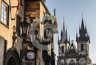 Prague Astronomical Clock, are located in one of the towers of the City Hall, and Tyn Church.