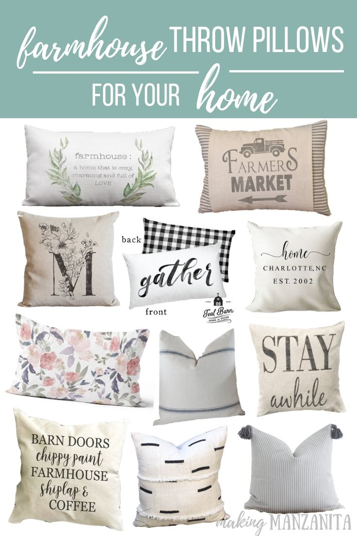 fea4f16520 If you love a modern farmhouse style style, you'll definitely love these farmhouse  throw pillows I've gathered for you. #pillows #pillowcover #farmhousehome  ...