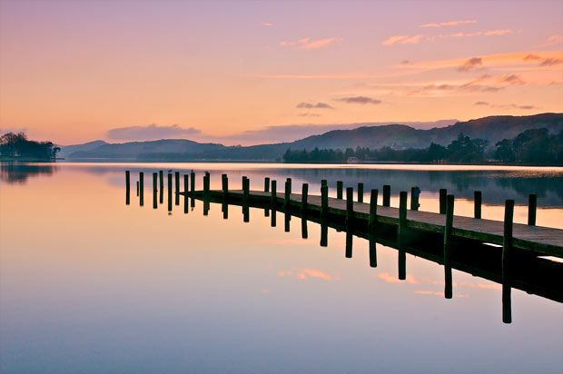 Coniston Water in the Lake District at dusk.  Picture: NEIL PROTHEROE