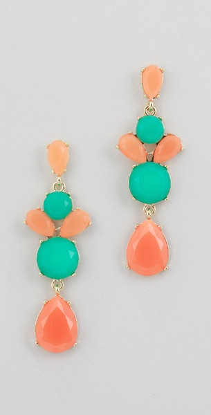 I love peach!: Accessories Jewelry, Gold Prom Dresses, Colors Combos, Drop Earrings, Color Combos, Favorite Colors, Peaches Combos Colors, Jewelry Accessories, Prom Accessories