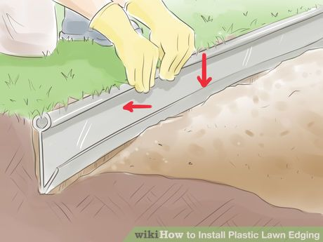 Plastic Garden Edging Ideas plastic borders vegetable and flower edging ideas How To Install Plastic Lawn Edging 9 Steps With Pictures