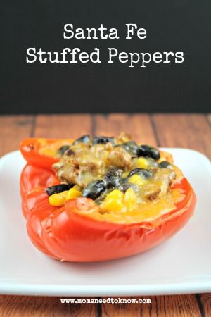 Santa Fe Stuffed Peppers. Awesome carb-free filling. You can skip the ...