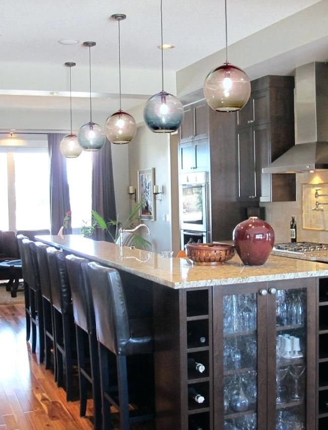Blown Glass Pendant Lighting For Kitchen Blown Glass Pendant