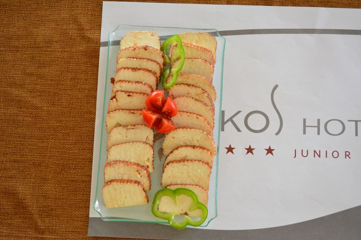 "New enriched breakfast 2015!  ""krasoturi"" from #Kos (sun-dried cheese in red wine)  #koshotel"