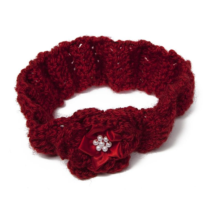 Classy Crafting | Beautiful handmade Blankets, Cardigans and Hair Accessories  - Deep red flowered headband, £4.00 (http://www.classycrafting.com/deep-red-flowered-headband/)