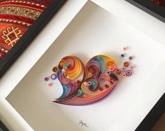 Quilling Art Licorne Oeuvres d'Art encadrées par jgaCreations