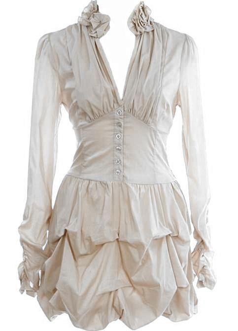 Bubbled Shirt Dress, Steampunk sheek