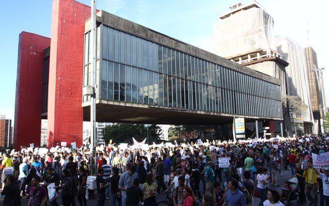 Manifestação contra a PEC 37 neste sábado (22-06-2013) em São Paulo. Foto: Futura Press