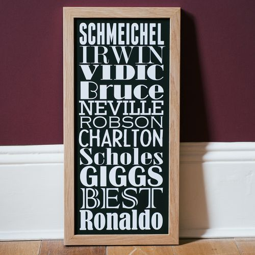 Personalised Football Dream Team Contemporary Typographic Word Art Print   Mens Gifts