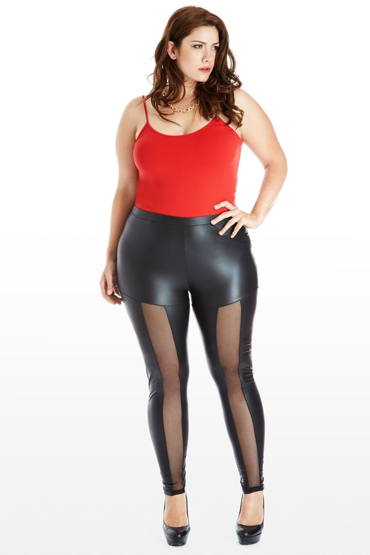 Window or Lose Mesh Faux-Leather Leggings | What Were They ...