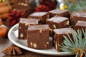 Low-carb fudge! Made with cream cheese and splenda.