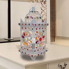 Небольшой витражи лампы мода Tabela де тиффани кованого железа павильон лампой исследования спальня витражи лампы Dia19cm * H45cm(China (Mainland))