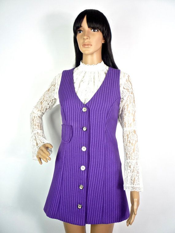 HUZZAR DESIGN Elegantly Tailored Mini pinafore dress with Racer Back detail on Etsy, $131.86
