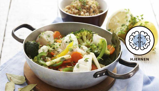 Gryte med torsk og grønnsaker