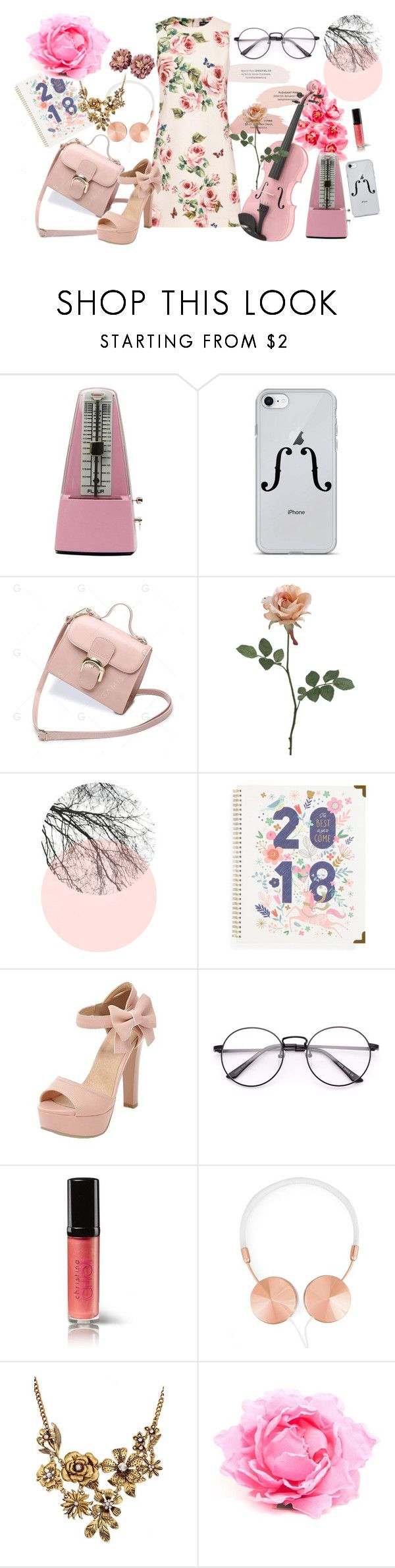 """""""violin in the spring"""" by hschommer ❤ liked on Polyvore featuring Dolce&Gabbana, Universal, SHAN, AiSun, Christina Choi Cosmetics, Frends, WithChic and Nude"""