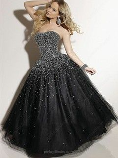 Tulle Sweetheart Floor-length Ball Gown Sequins Prom Dresses -NZD$293.79
