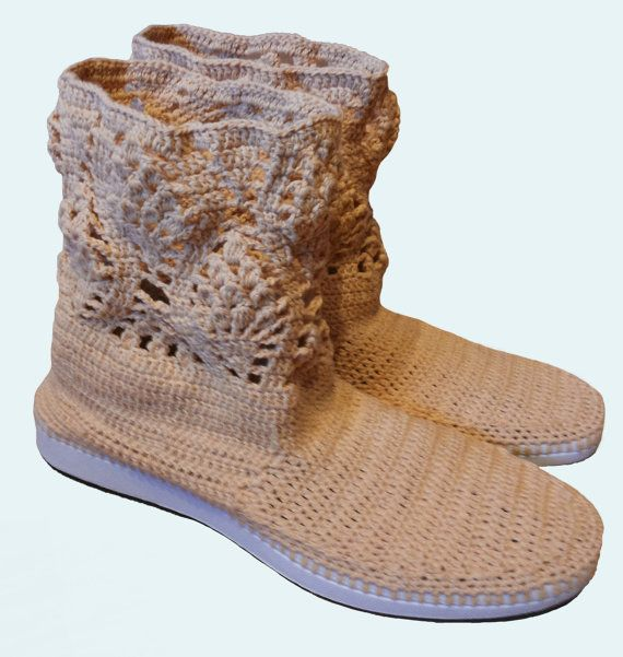 Crochet Lace Boots for Women and Teen Girls by CatanaHandmade