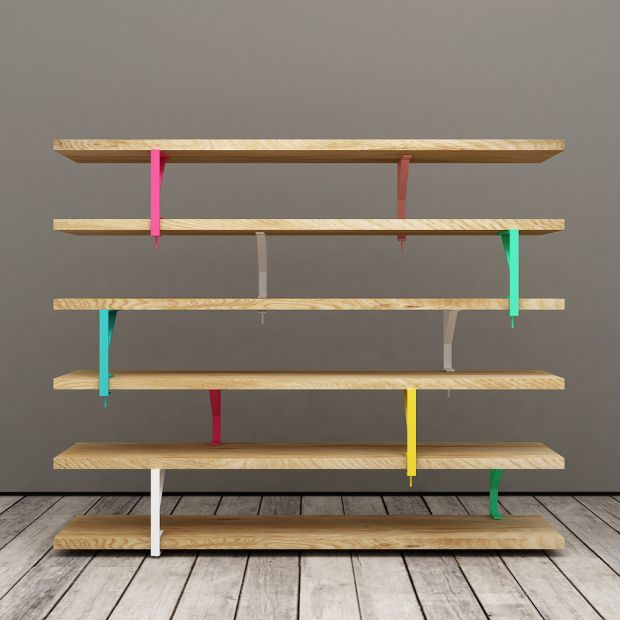 Ikea Hack, Using Ikea EKBY TÖRE Bracket {painted Bright Colors} U0026 Wood