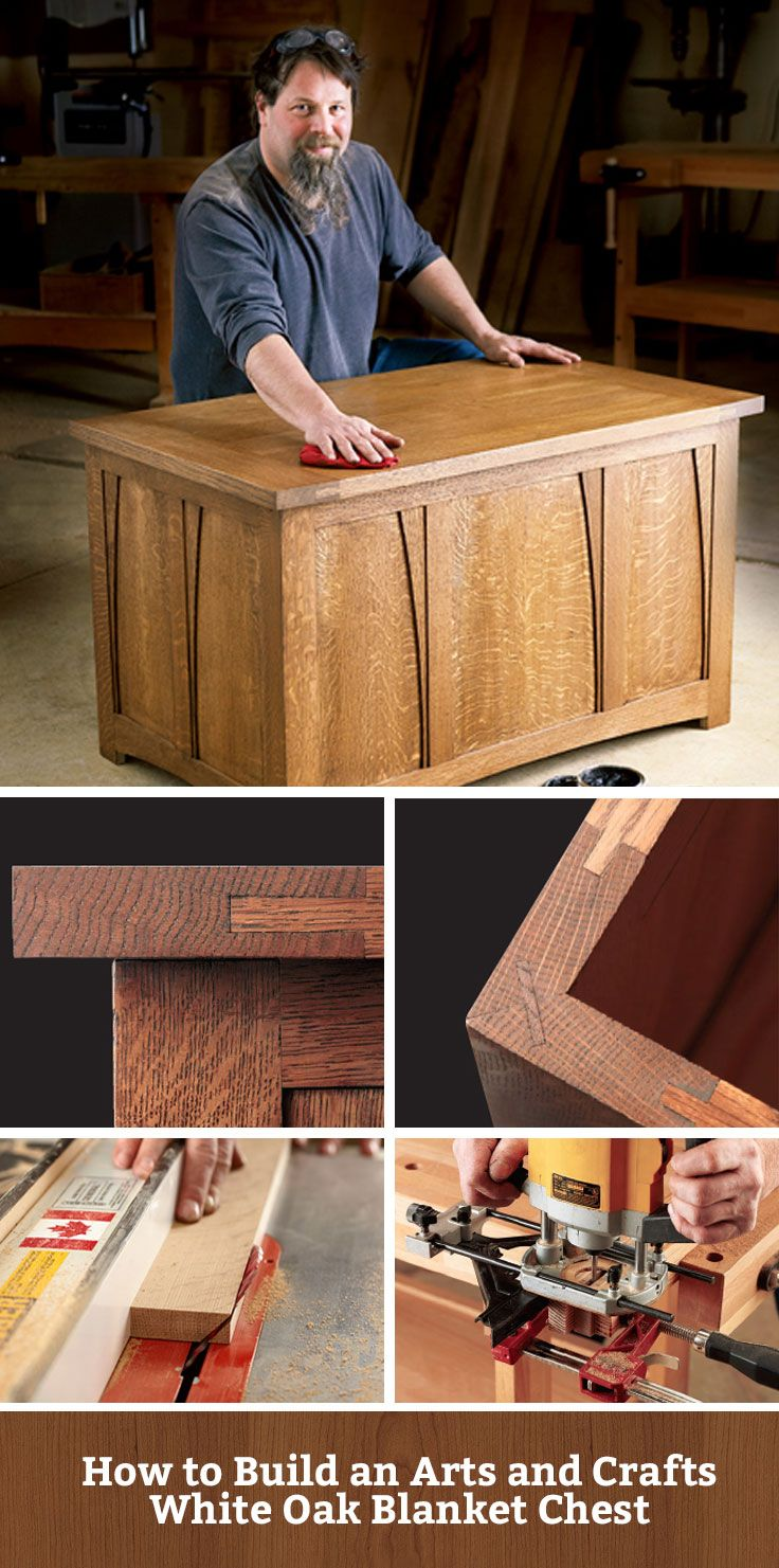 How To Build An Arts And Crafts White Oak Blanket Chest Blanketchest