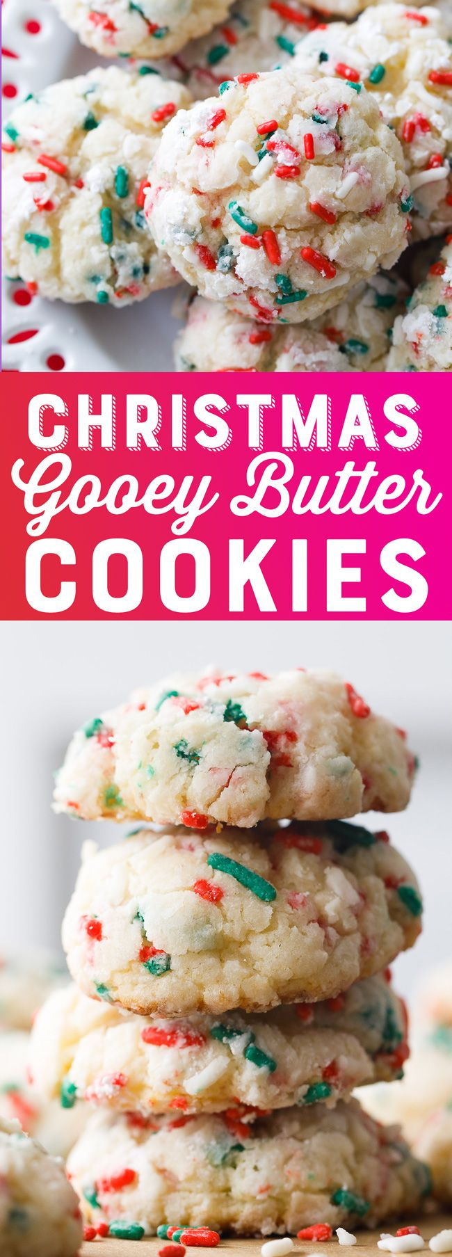Christmas Gooey Butter Cookies - super easy to make, you've stumbled upon the perfect recipe.