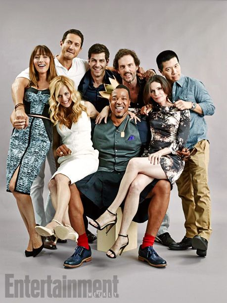 (Standing, left to right) Bree Turner, Sasha Roiz, David Giuntoli, Silas Weir Mitchell, and Reggie Lee; (seated, left to right) Claire Coffee, Russell Hornsby, and Bitsie Tulloch, Grimm. See more stunning star portraits from our photo studio at San Diego Comic-Con 2014 here: http://www.ew.com/ew/gallery/0,,20399642_20837151,00.html