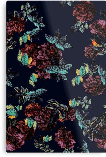 Metal Prints Roses Garden by talipmemis