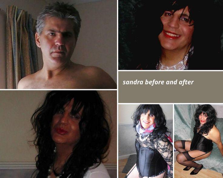 crossdresser sandra before and after