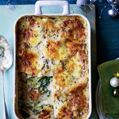 Savoy cabbage, walnut and sage lasagne