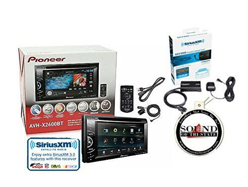 """Pioneer AVH-X2600BT 6.1"""" Touchscreen DVD Receiver w/ Built in Bluetooth and SiriusXM SXV300v1 Satellite Radio Tuner and Antenna with a FREE SOTS Air Freshener. For product info go to:  https://www.caraccessoriesonlinemarket.com/pioneer-avh-x2600bt-6-1-touchscreen-dvd-receiver-w-built-in-bluetooth-and-siriusxm-sxv300v1-satellite-radio-tuner-and-antenna-with-a-free-sots-air-freshener/"""