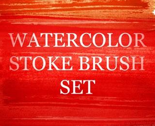 A Great Watercolour Strokes Photoshop Brush Set by timothyblake (via Creattica)