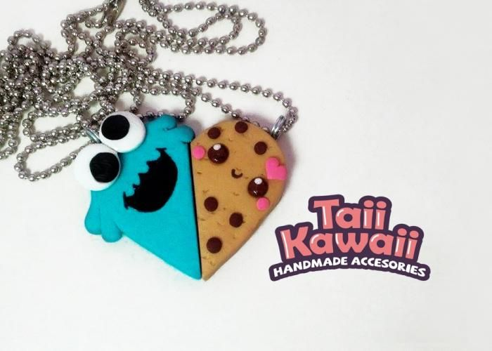 Taii Kawaii: Juego de collares cookie monster - Kichink