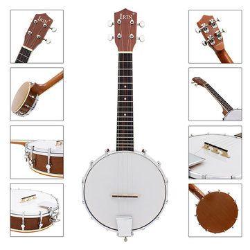 IRIN Four-string Sapelli Banjo Exquisite Professional Banjolele Sale - Banggood.com