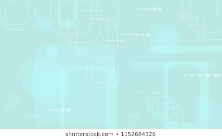 Tech Background. Light Horizontal Technology Background with Frames, Squares, Dots, Arrows and Lines. Modern Abstract Texture for Wallpaper, Applicati…