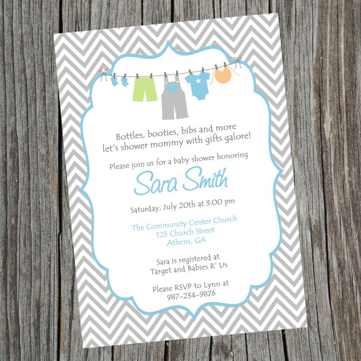 jungle theme baby shower invitation sayings%0A Printable Boy Baby Shower Invitation  Printable Baby Boy Chevron Shower  Invitation  Boys Clothesline Invitation
