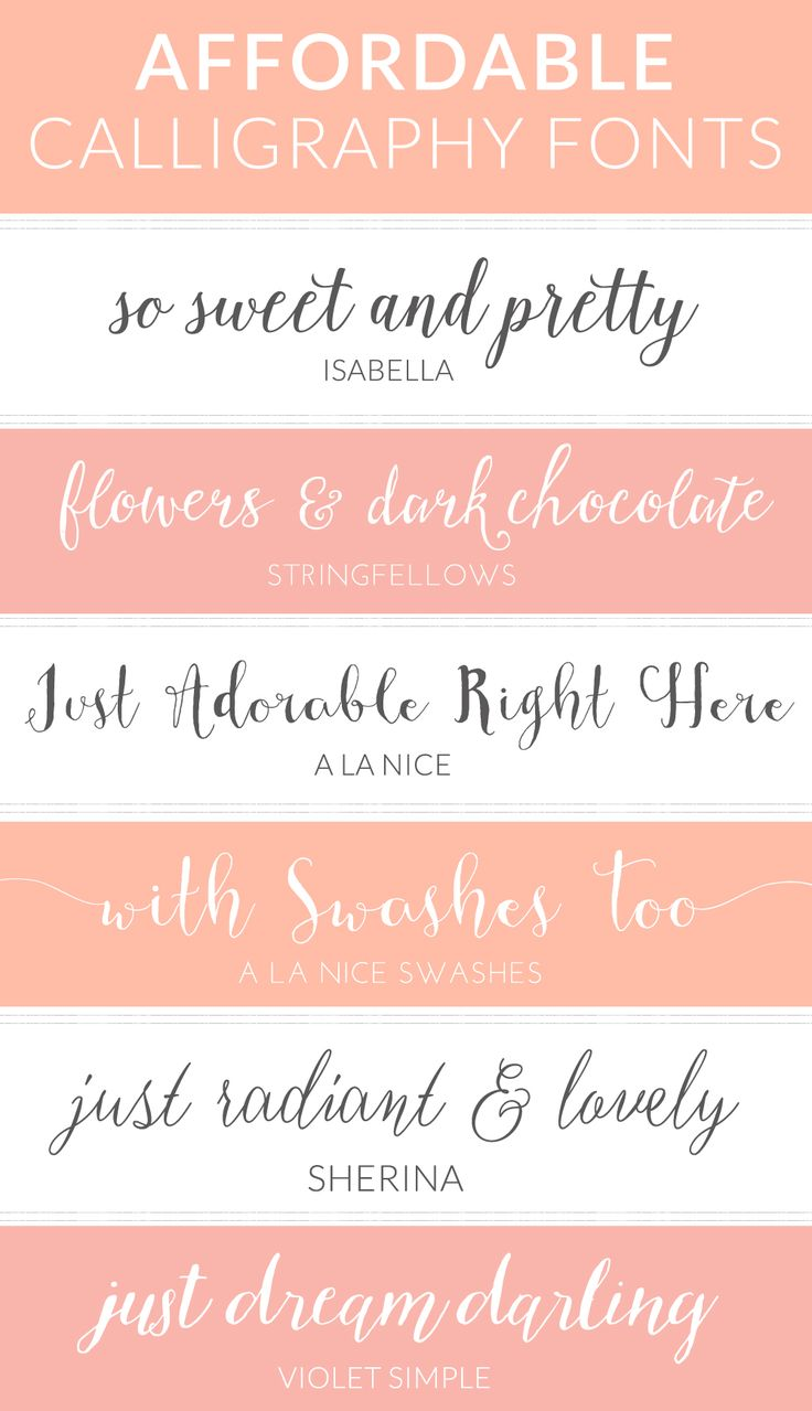 These Cheap Calligraphy Fonts Look Anything But Cheap! These Calligraphy Fonts Won't Break the Bank to Purchase + Feature Some ADORABLE Calligraphy Goodness | angiemakes.com