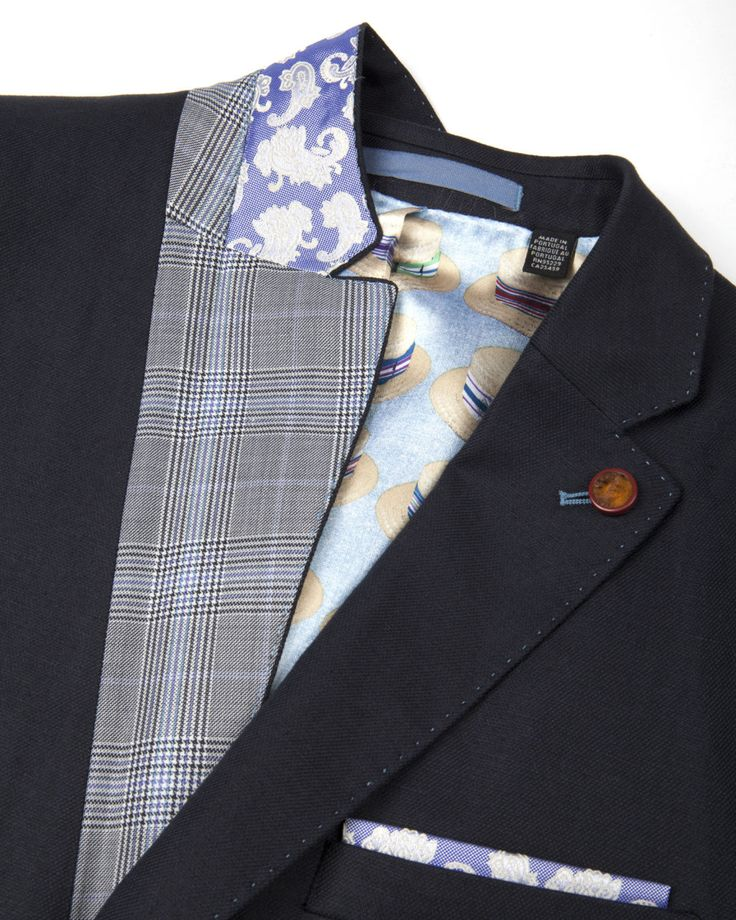 Linen blazer - Navy | Blazers | Ted Baker