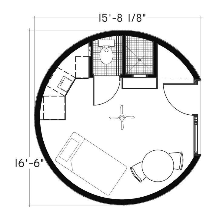 Plan Number: DL1601 Floor Area: 214 Square Feet Diameter