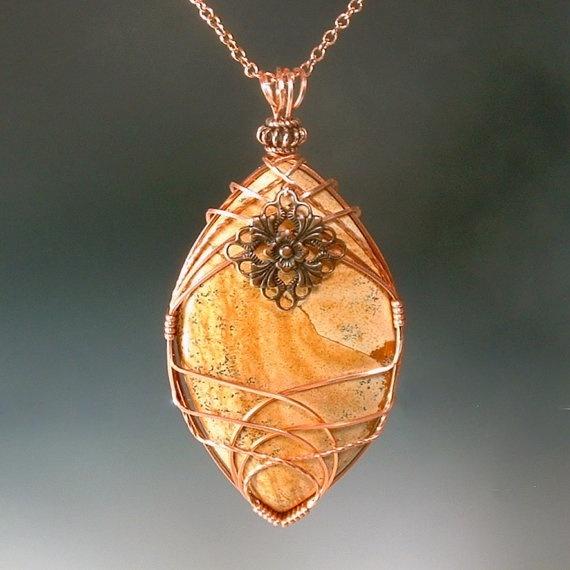 Large Stone Pendant Necklace