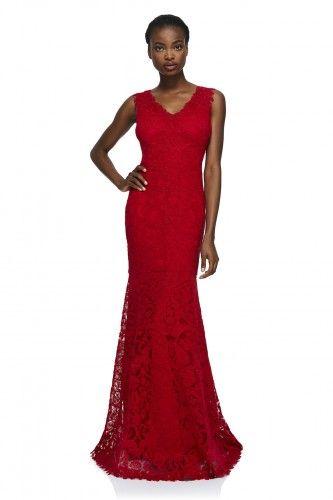 ALX2003L sukienka wieczorowa #eveningdress #reddress #longdress
