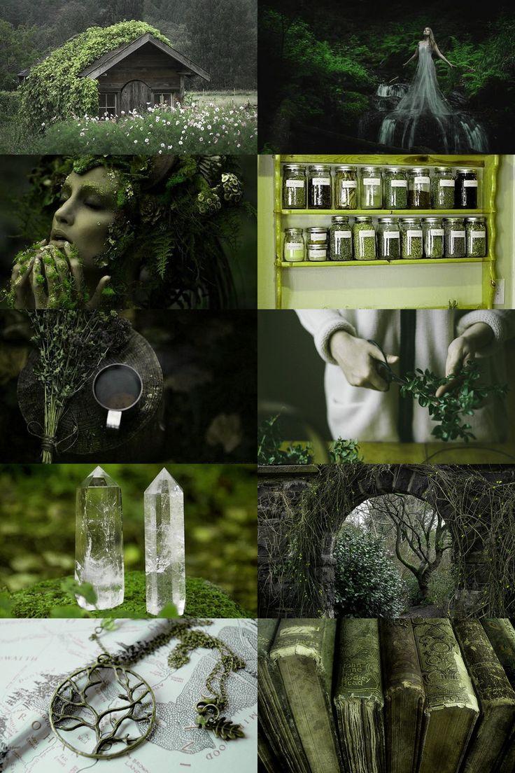 Relacionado con esoterismo, magia espiritual, con mundo de plantas, etc.