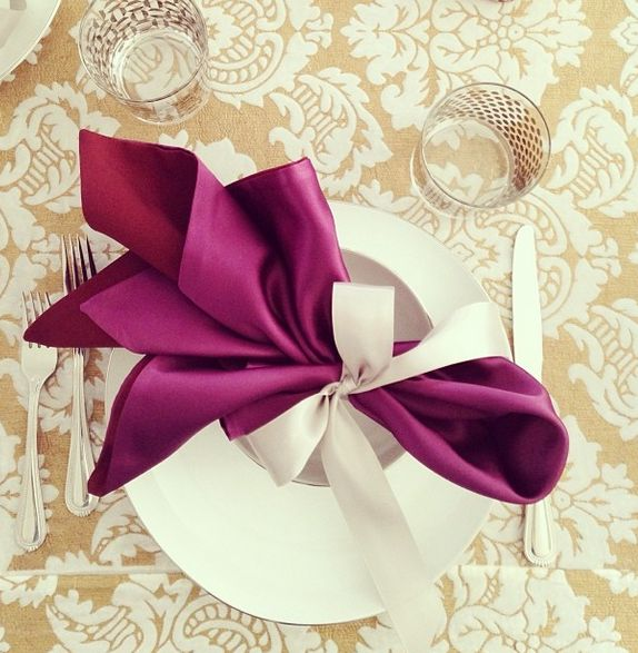 25+ unique Wedding napkin folding ideas on Pinterest | Wedding ...