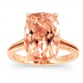 The peach color of the morganite just works with the rose gold. $815