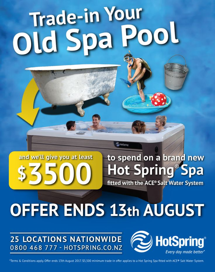 HotSpring Trade-in Deals Page