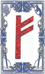 Fehu is the Rune of money in general, in various forms. It refers to an acquired wealth, which you generated, rather than goods that you would have inherited or gains in games.  Allusion to the circulation of energies, money takes, in Fehu, the form of a
