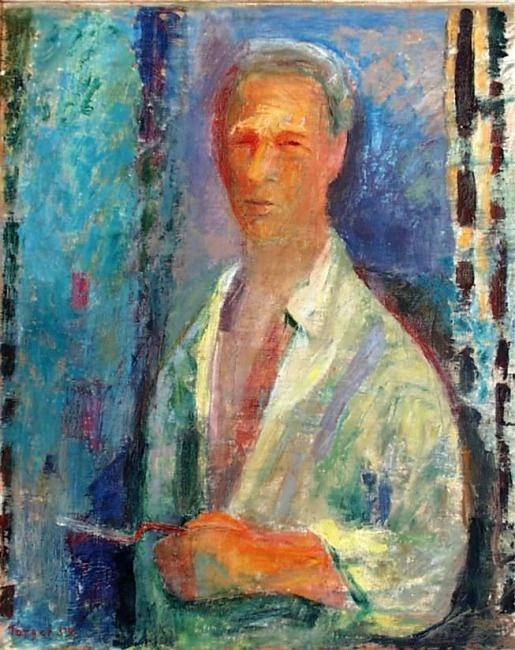 Torger Enckell: Self-portrait, 1959.