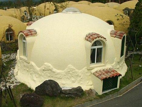 Styrofoam house