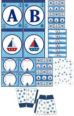 Foto y Diseño: UGUGLI. Conseguilo aquí: http://articulo.mercadolibre.com.ar/MLA-601069906-cumpleanos-nautico-kit-deco-impresion-y-recorte-_JM