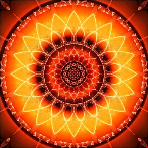 Wandbild von Christine Bässler - Mandala Kraft der Sonne