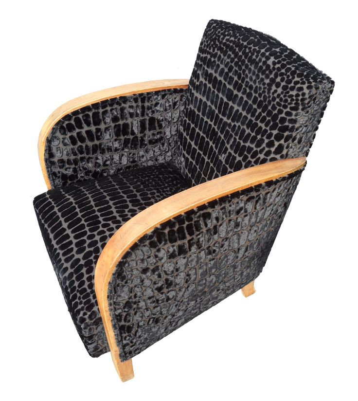 Le fauteuil club, années 30, s'habille en croco !