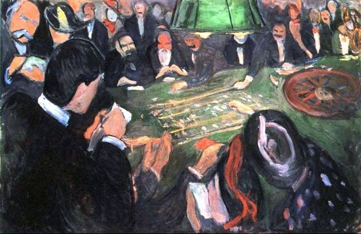 At the Roulette Table in Monte Carlo, 1892 by Edvard Munch.